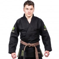 Кимоно для Джиу-Джитсу TATAMI THE TANK 950GSM DOUBLE WEAVE Black