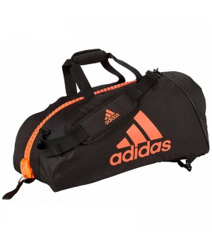 "Сумка-рюкзак Adidas 2in1 Bag ""Martial arts"" Nylon, adiACC052 Чорна з червоним"
