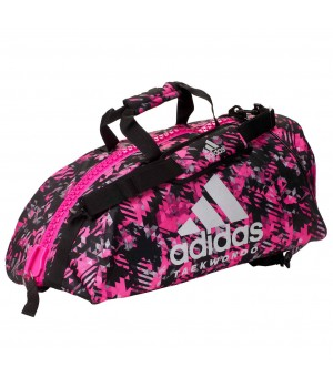 "Сумка-рюкзак Adidas 2in1 Bag ""Taekwondo"" Nylon, adiACC052 Рожева"