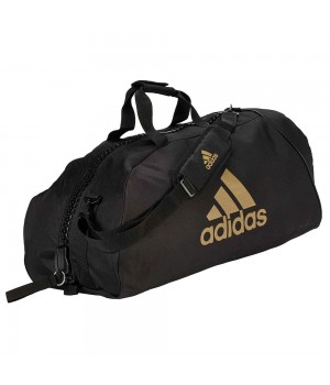 "Сумка-рюкзак Adidas 2in1 Bag ""Martial arts"" Nylon, adiACC052 Чорна з золотим"